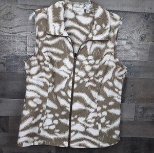 Weekend by Chico's Zipper Vest